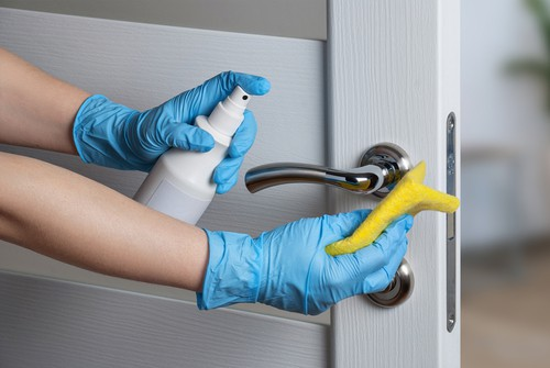 Disinfecting door knobs