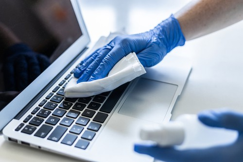 Disinfecting laptops and computers