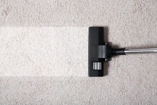 Removing dust from carpet or rug